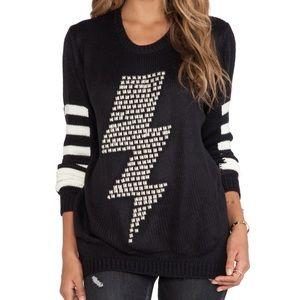 Raven Lightning Bolt Studded Sweater